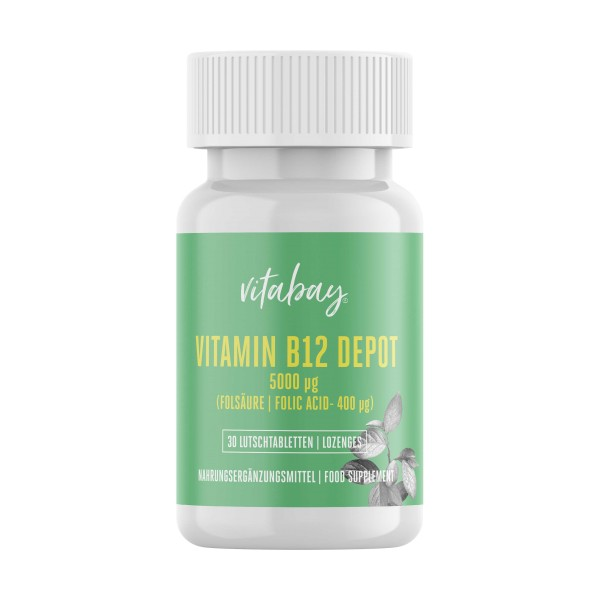 Advanced - Vitamin B12 Depot - 5.000 mcg & Folsäure - 400 mcg - 30 Tab