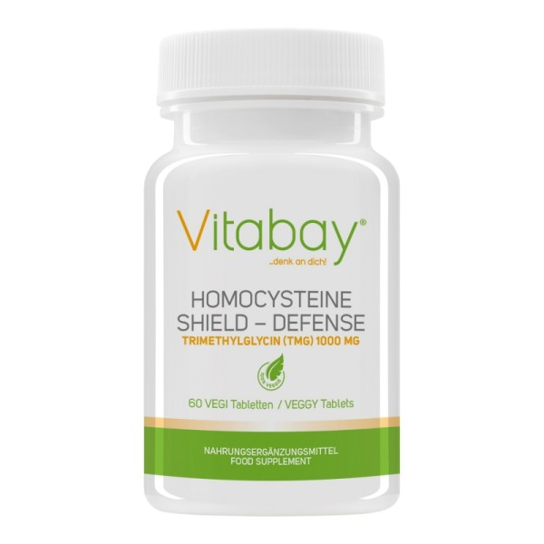 Homocysteine Defense - Trimethylglycin (TMG) 1000 mg, Vitamin B12 500 mcg