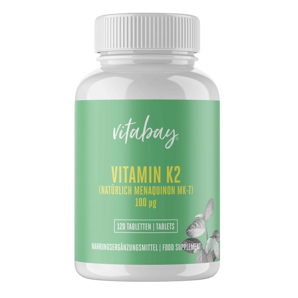 Vitamin K2 100 µg - 120 Vegane Tabletten