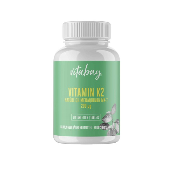 Vitamin K2 200 µg - 90 Vegane Tabletten