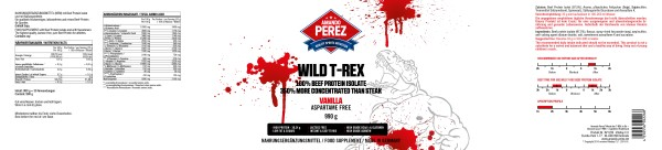 Wild T-REX - 100% Beef Protein - 350% More concentrated than Steak - 990 g