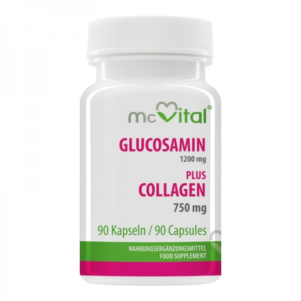 Glucosamin 1200 mg - plus Collagen 750 mg - 90 Kapseln