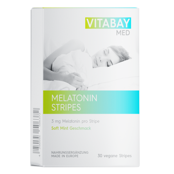 Melatonin Stripes - 30 vegane Stripes - 3 mg Melatonin pro Stripe (Geschmack Minze)
