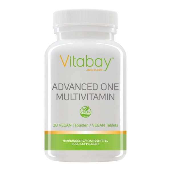 Advanced One Multivitamin - 30 vegane Tabletten - Vitamine Mineralstoffe, Spurenelemente