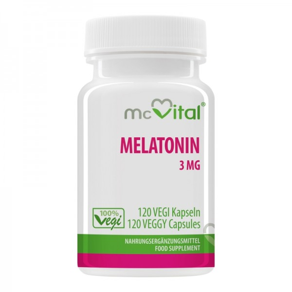 Melatonin 3 mg - 120 Vegikapseln